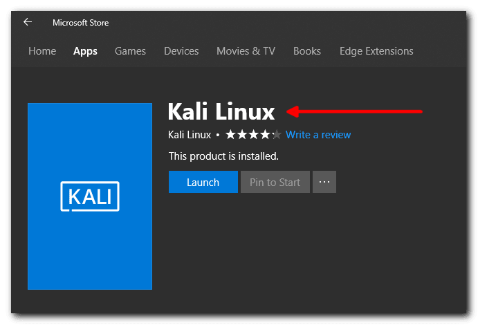 Install and Configure Kali Linux Windows 10 App
