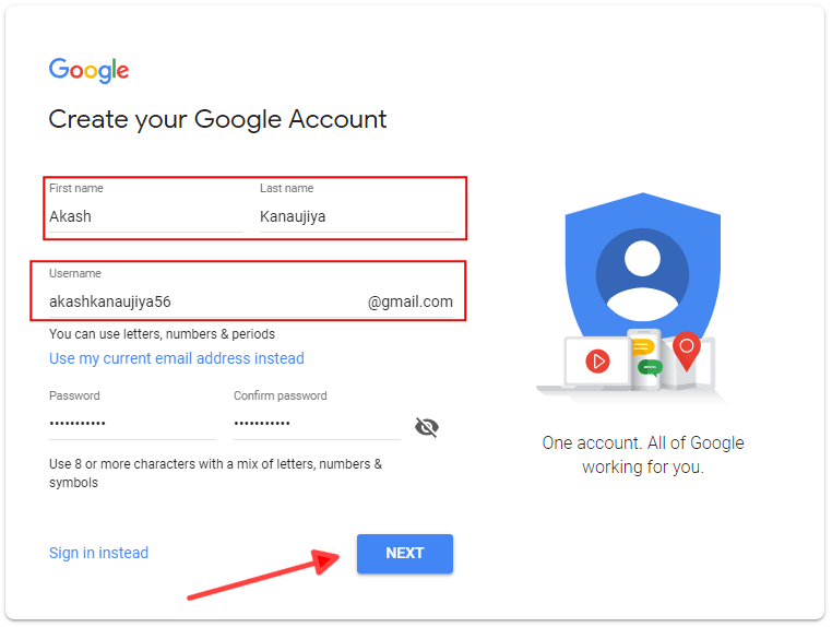 How To Create New Gmail Account