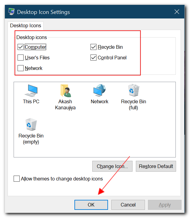 How to add My Computer icon on desktop in windows 10