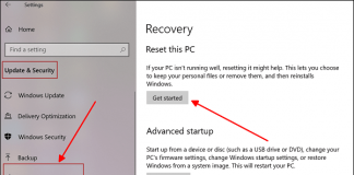 How to Reset Windows 10 To the Factory State
