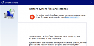 System Restore Disabled? Turn on System protection greyed out greyed out