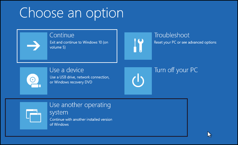 change boot order in Windows 10