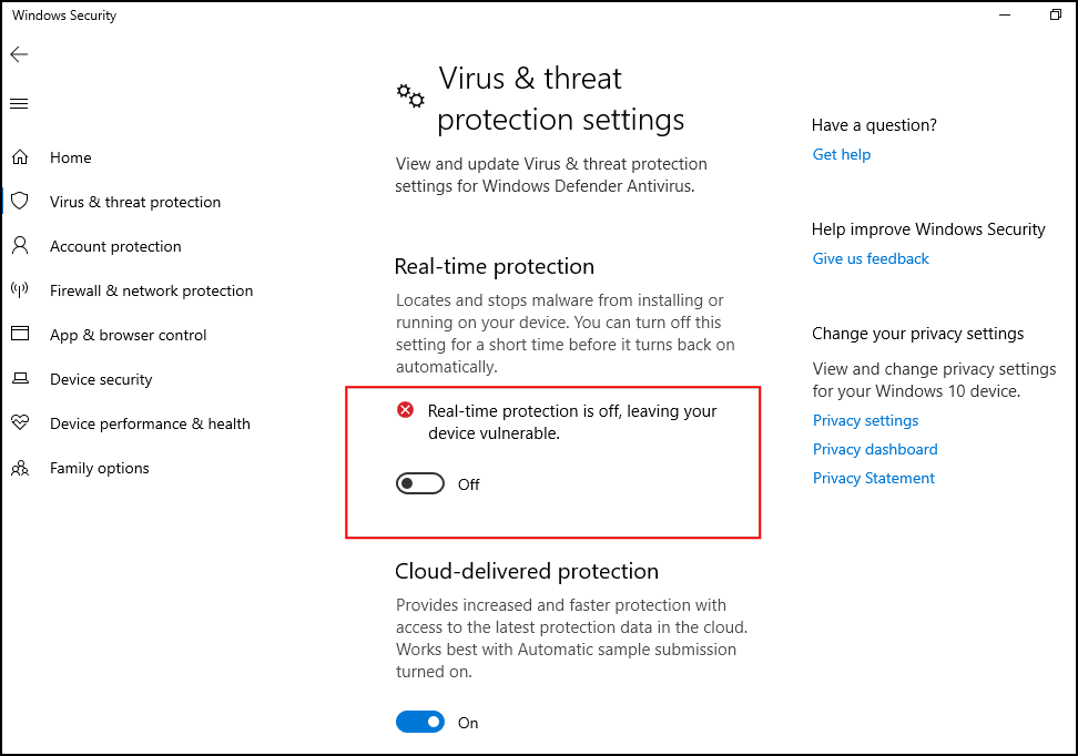 How to turn off Windows Defender windows 10