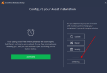 how to uninstall avast antivirus