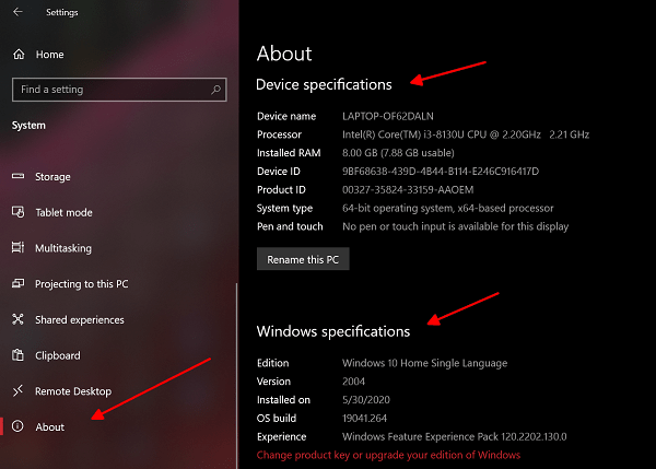 How To Check PC Specs on Windows 10