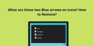 Two Blue Arrows on Icons